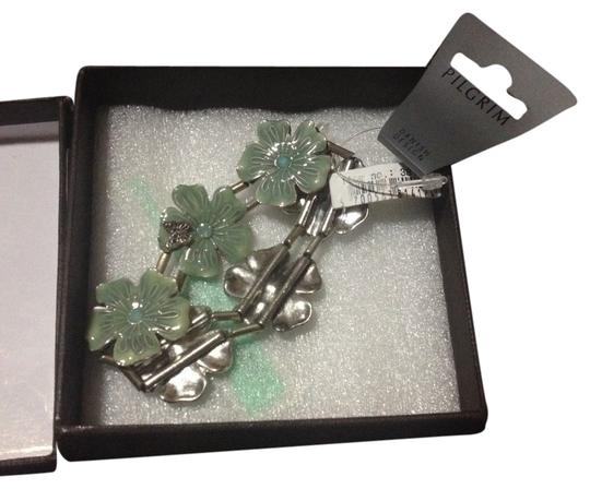 Pilgrim Pilgrim Stretch Flower Green Bracelet
