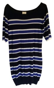 WHIT short dress Blue Striped Sweater on Tradesy