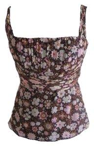 Shoshanna Top Pink And Brown