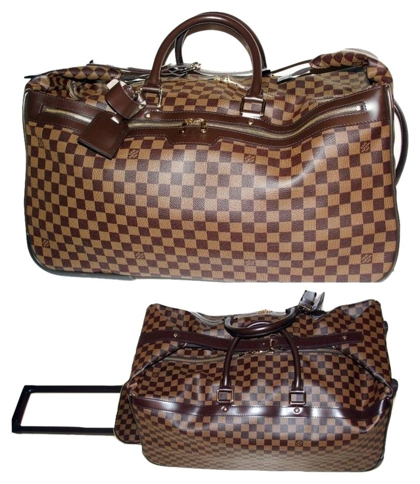 2b91d3647051 Louis Vuitton Luggage Rolling Duffel Rolling Luggage Soft Sided Luggage  Damier Ebene Brown Travel Bag Image ...