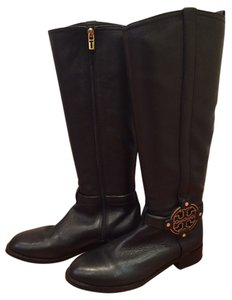 Tory Burch Amanda Riding Like New Black Boots