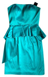 Max and Cleo Peplum Green Strapless Strapless Cocktail Emerald Ruffle Ruffle One Ruffle Tube Top Formal Green Dress