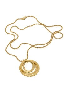 Erwin Pearl molten gold circles chain necklace