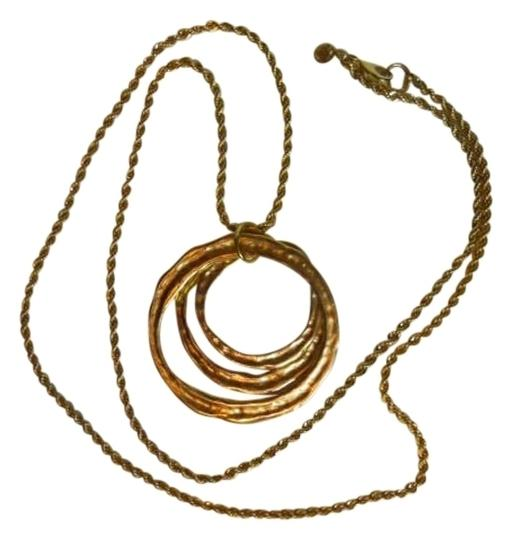 Other Molton Gold Circles Pendent Necklace