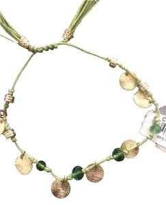 Cra Couture Jewelry Cara NY Green and Gold Coin Bracelet