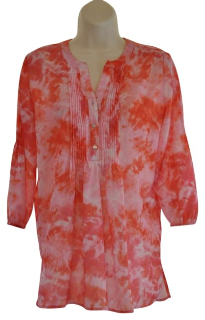 Chico's Top Pink Tie Dye