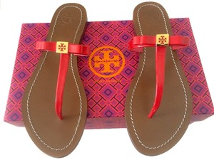 Tory Burch Thong Leighanne Bow Red Sandals