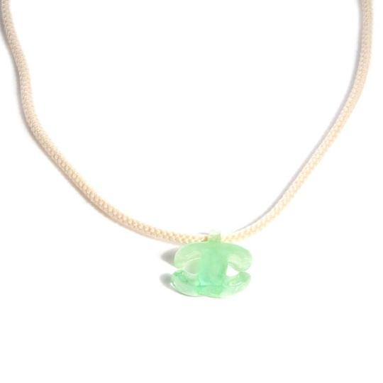 Chanel CHANEL Green Resin CC Rope Necklace CCTLM30