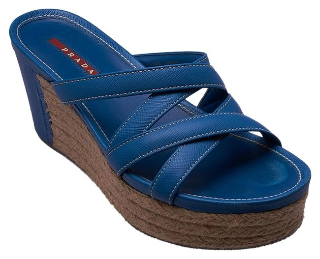 Item - Blue Tan Leather (42325) Wedges Size US 7 Narrow (Aa, N)