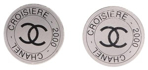 Chanel [ENTERPRISE] CHANEL Croisiere 2000 CC Clip On Earrings Silver CCAV251