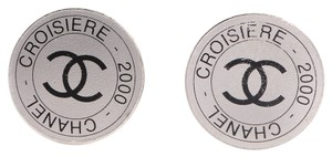 Chanel CHANEL Croisiere 2000 CC Clip On Earrings Silver CCAV251