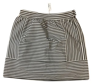 Madewell Striped Stripes Skirt Black And White