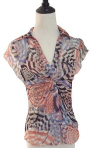 Diane von Furstenberg Top Orange, Blue, Navy, Ivory