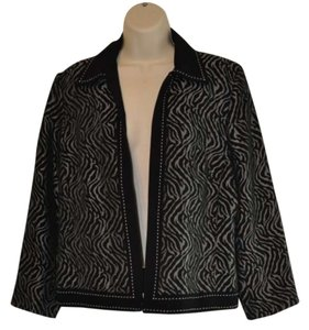 Rafael Black & White Tiger Print Jacket