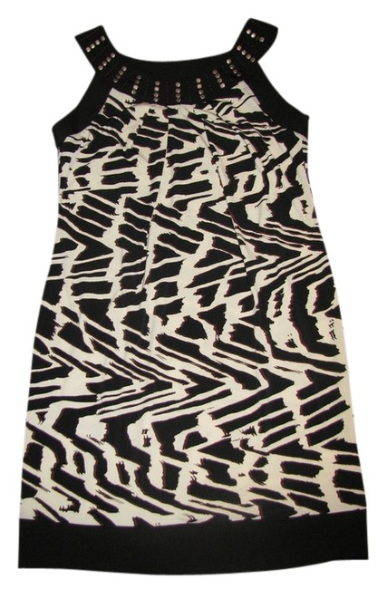 dressbarn short dress Black/Beige/Brown on Tradesy
