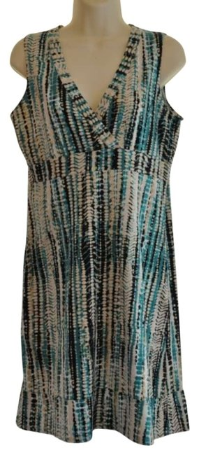 Calvin Klein short dress Multi-colored Blue/Black/White/Beige on Tradesy
