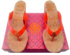 Tory Burch Sandal Orange Wedges