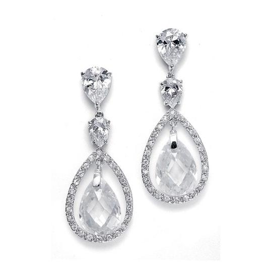 Mariell Silver With Faceted Pear-shaped Drops 2017e Earrings