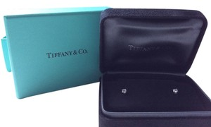 Tiffany Co Solitaire Diamond Earrings In Platinum