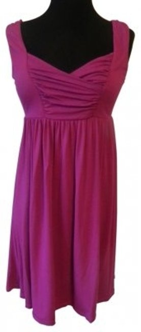 Lucy & Laurel short dress fuschia Knit Sleevelss on Tradesy