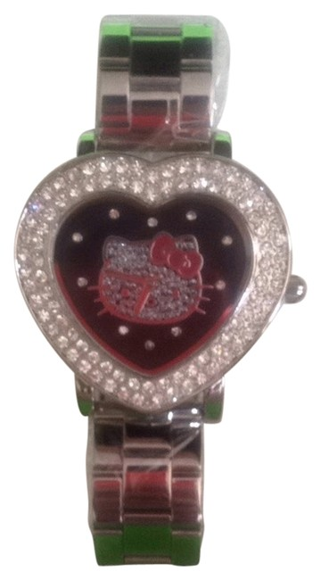 Item - Silver Black Red Diamond Watch