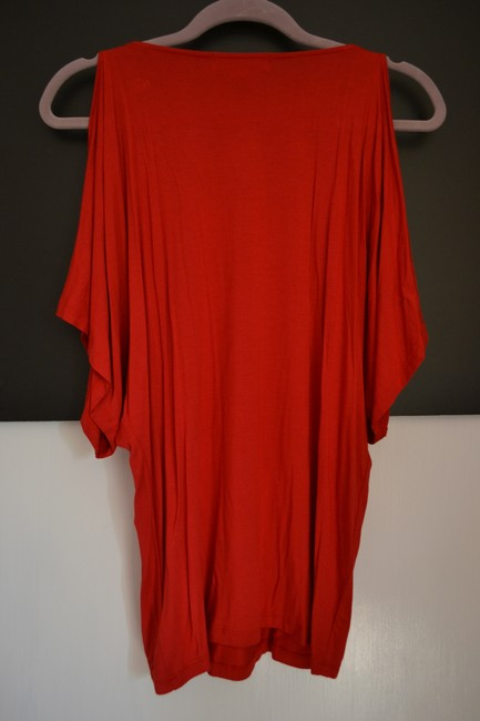 Michael Kors Belted Loose Comfortable Top Red
