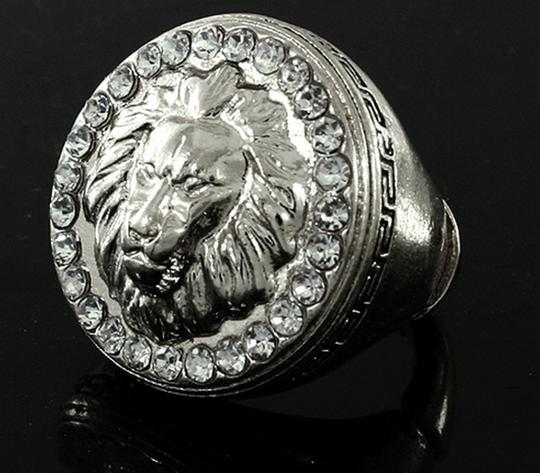 Other BOLD LION OF JUDAH RING W/RHINESTONES (STRETCH RING)