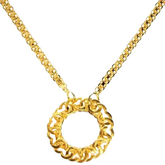 Chanel Chanel CC Trim Mirror Pendant With Bismarck Chain CCGR40