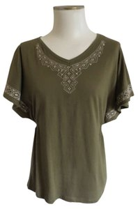 French Laundry Top Army Green
