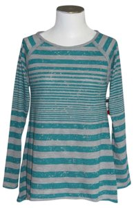 Bay Studio Top Teal/Gray