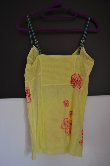Free People Flowers Adjustable Top Yellow
