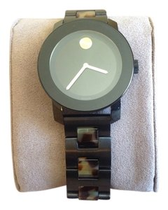 Movado Movado Bold Black Stainless Steel and Tortoise Bracelet Watch
