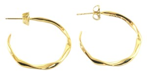 Ippolita IPPOLITA 18K YELLOW GOLD #2 SMALL SQUIGGLE HOOP EARRINGS