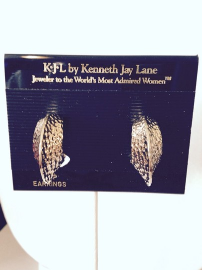 Kenneth Jay Lane Pompeii Gold Hoop Clip Earrings With Certificate Of Authenticity