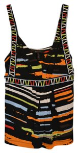 BCBGMAXAZRIA Multi-colored Black Top Black/Multi