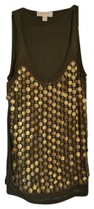 Michael Kors Boho Bohemian Top Green