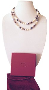 Kenneth Jay Lane Multi-Color Neutral Pearl Hand Knotted Long Strand