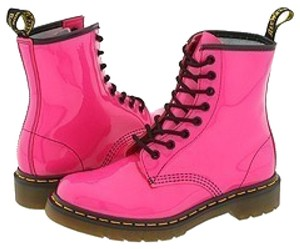 Dr. Martens Laceup Lace-up 90s Docs Hot Pink Patent Boots