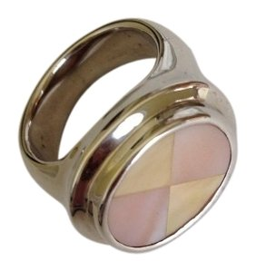 Sterling Silver And Mother Of Pearl Ring