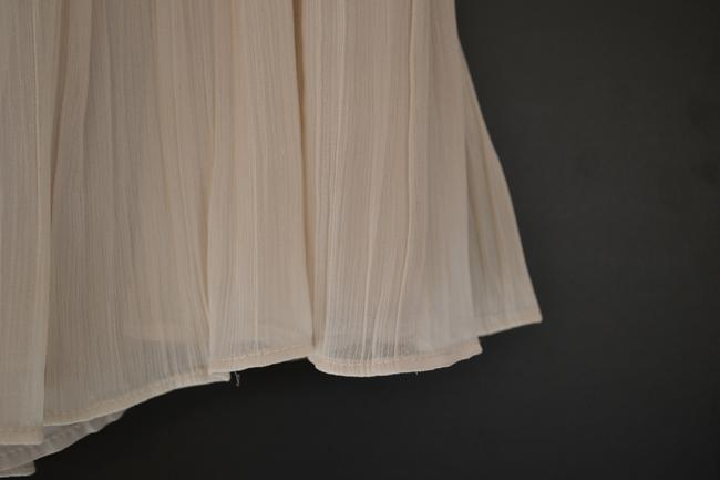 BB Dakota Pleated Mini Mini Skirt Cream