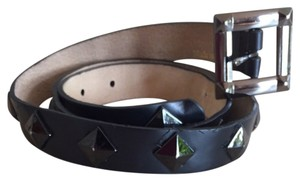 Betsey Johnson Betsey Johnson Black Stud Leather Belt Size M