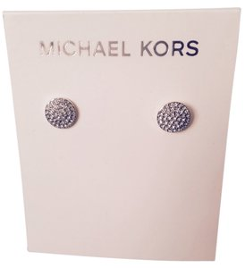Michael Kors Crystal Pave' Gold-Tone Disc Stud Earrings