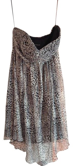 Express Animal Print Chiffon Dress