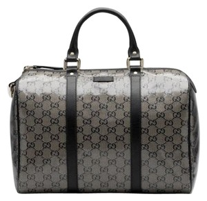 91282daffcc Gucci Boston Glitter Joy Black Grey Crystal Coated Canvas   Leather Satchel