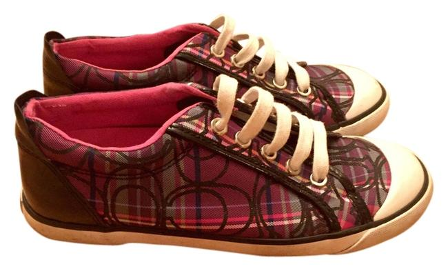 Item - Purple Plaid Sneakers Size US 6 Regular (M, B)