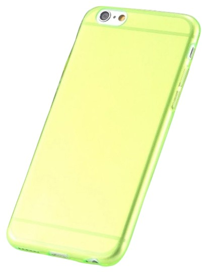 "Other Green - IPhone 6 4.7"" TPU Rubber Gel Ultra Thin Case Cover Transparent Glossy 10 Colors Available"