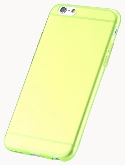 "Other Green - IPhone 6 Plus 5.5"" TPU Rubber Gel Ultra Thin Case Cover Transparent Glossy 10 Colors Available"
