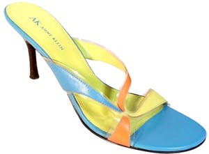 AK Anne Klein Free Shipping Multicolored Blue Green and Orange Sandals