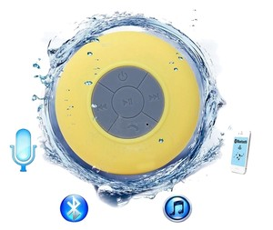 Other Yellow Waterproof Wireless Bluetooth Handsfree Mic Speaker Shower Car Mini IPhone Samsung Cell Phone