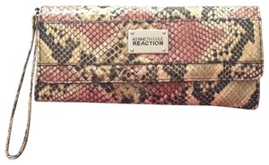 Kenneth Cole snakeskin. taupe pink Clutch